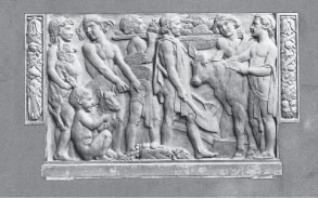 Harvest Panel, in Empire Stone, Wye College 1952