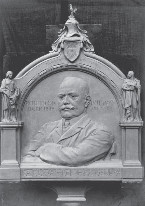 Sir Edward Holden, 1848-1919 Plaster maquette for bronze relief