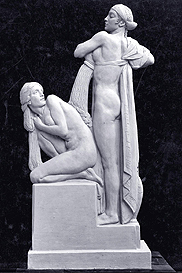 The Water's Carress, empire stone statue, 1934